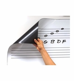 Roll Up Dry Erase Music Staff Magnet
