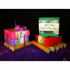 Holiday Special ~ Handmade Soap Dish & 2 Bars Soap