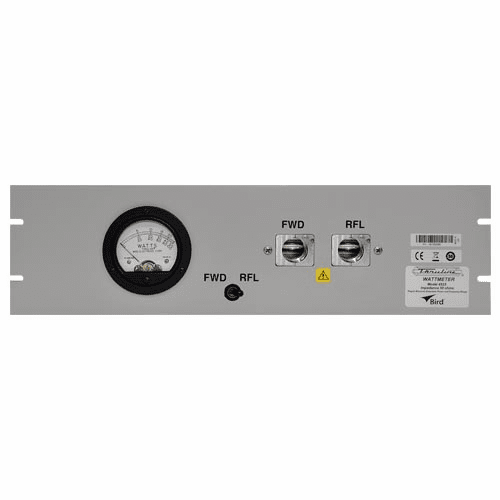 4522, Single Meter - Dual Element Panel Mount RF Wattmeter with Selector Switch