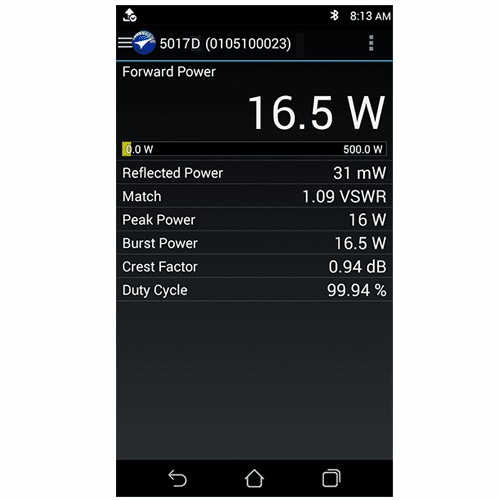 Bird RF Meter App for Android