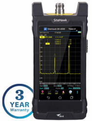 SK-4500-TC, 1 MHz - 4.5 GHz SiteHawk Cable and Antenna Analyzer