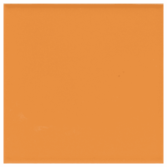 "American Olean Bright Mandarin Orange 4 1/4"" x 4 1/4"""