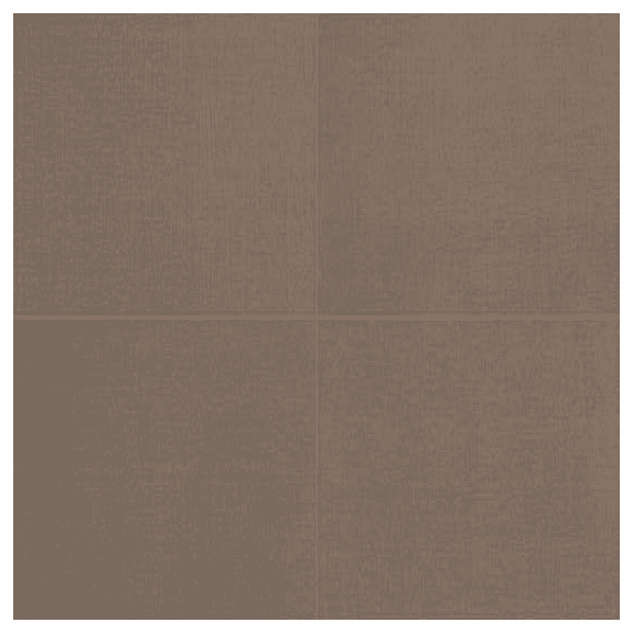 American Olean Elemental Canvas Natural Burlap 24 x 24