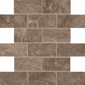 American Olean Laurel Heights Brown Pinnacle Brick Joint Mosaic 2 x 4
