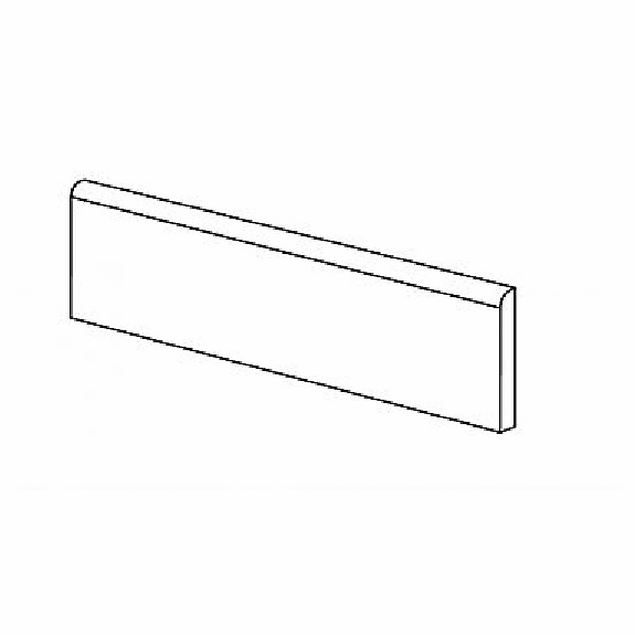 American Olean Laurel Heights Charcoal Crest Wall Bullnose 3 x 12