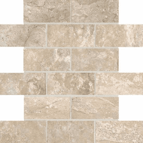 American Olean Laurel Heights Elevated Beige Brick Joint Mosaic 2 x 4