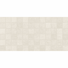 American Olean Theoretical Whimsical White Mosaic