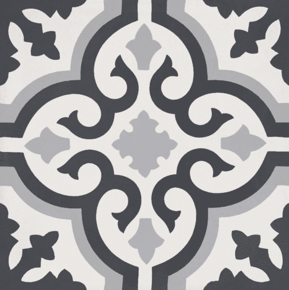 Bati Orient Cement Tile Classic Off White Anthracite Grey Mix