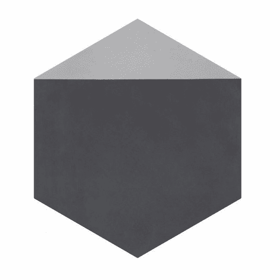 Bati Orient Cement Tile Hexagon Modern Antracite Grey