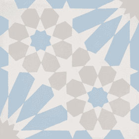 Bati Orient Cement Tile Modern White With Light Blue And Grey