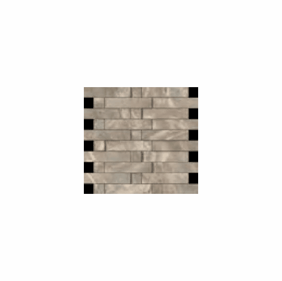 "Cerdomus Dome Walnut Brick Mosaic 12"" x 12"""