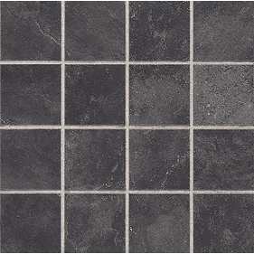 "Daltile Continental Slate 3"" x 3"" Asian Black Mosaic"