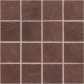 "Daltile Continental Slate 3"" x 3"" Indian Red Mosaic"