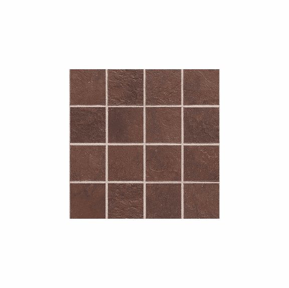 """Daltile Continental Slate 3"""" x 3"""" Indian Red Mosaic"""