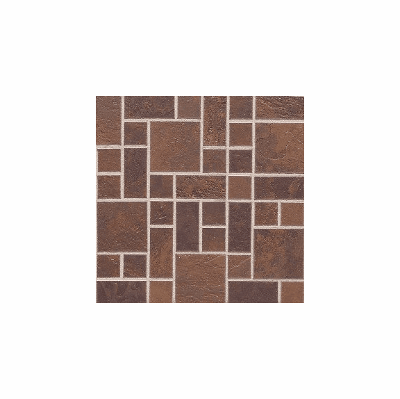 "Daltile Continental Slate 3"" x 3"" Indian Red Random Block Mosaic"