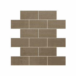 "Daltile Skybridge Brown 12"" x 12"" Brick Joint Mosaic"