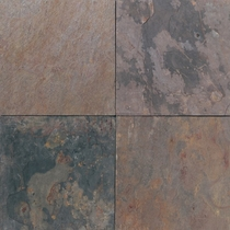 Daltile Slate Indian Multicolor 12 X 12