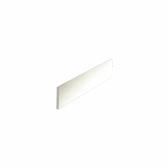 "Happy Floors Living Cream 3"" x 12"" Bullnose"