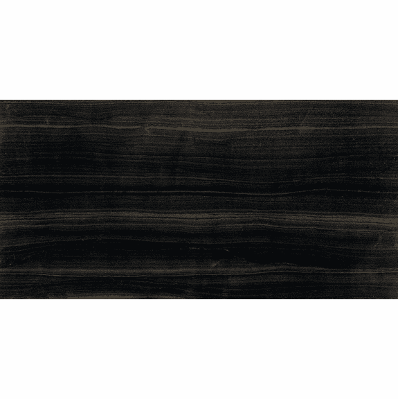 Interceramic Marble Madera Black Polished 6 x 12