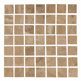 Interceramic Travertino Royal Walnut 16 x 16 Mosaic