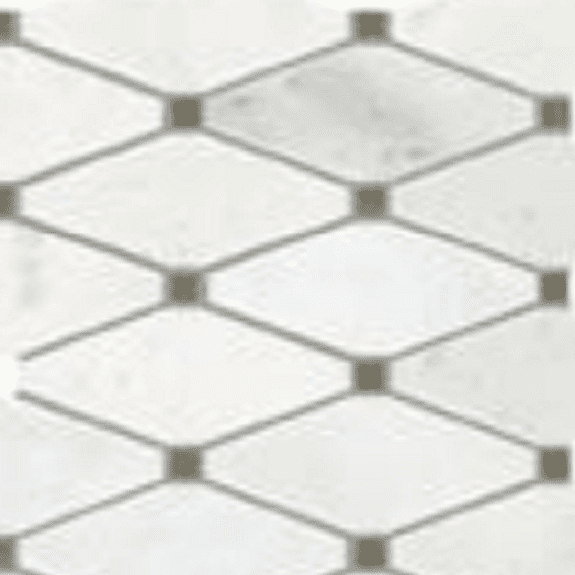 Mohawk Chateau Elegant Bianco Carrera Diamond Cut Mosaic