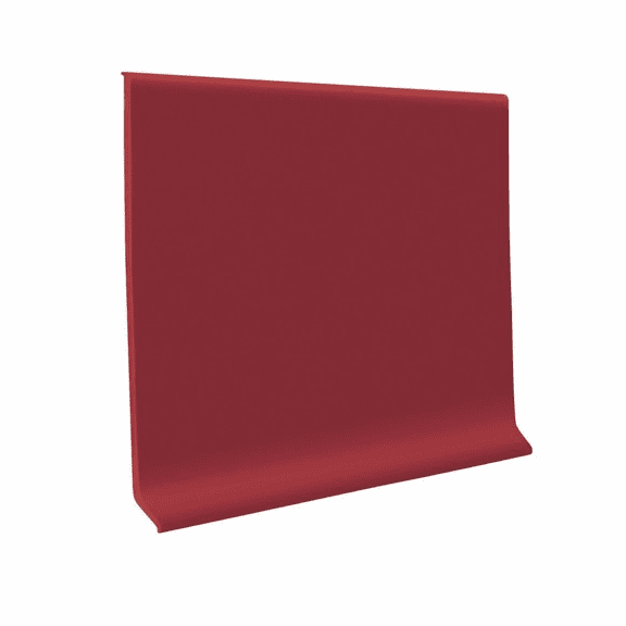 """Roppe 700  Wallbase Red  4""""x120' Roll"""