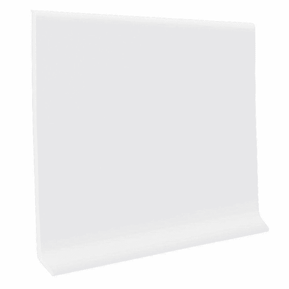 """Roppe 700  Wallbase Snow  4""""x120' Roll"""