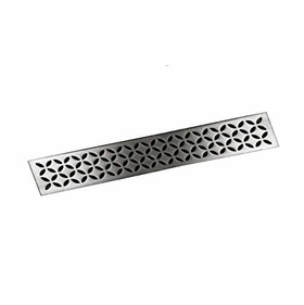 Schluter Brushed Design Stainless Steel Drain Cover - Floral
