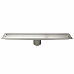 Schluter Brushed Stainless Steel Drain Cover Closed