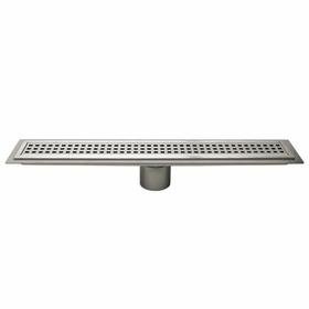 Schluter Brushed Stainless Steel Drain Perforated