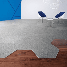 Shaw Contract Hexagon Carpet