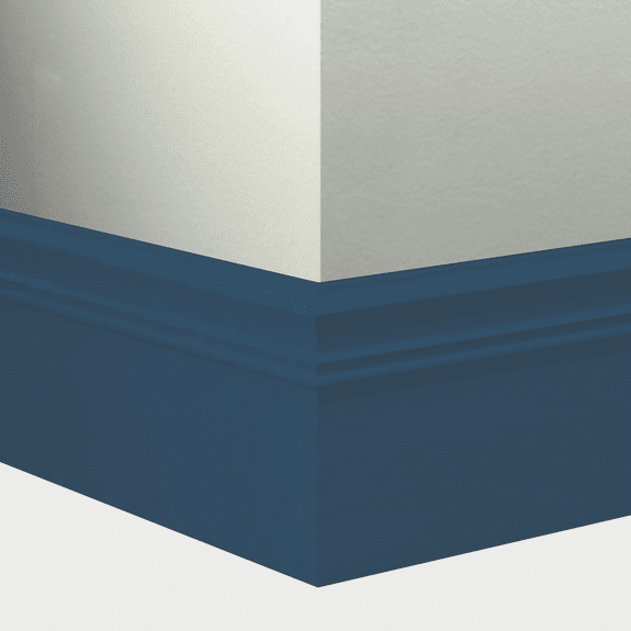 "Tarkett Millwork Monarch Navy Blue 6"" x 8'"