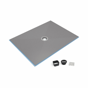 Wedi Ligno Curbless Shower Base with Drain