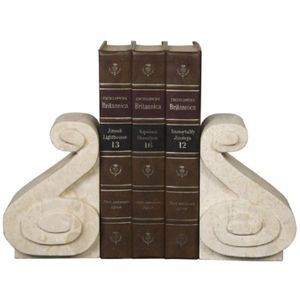Scroll Marble Bookends