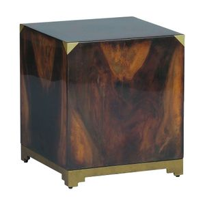 Burl Cube End Table