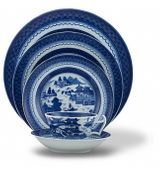 Blue Canton 5 Piece Place Setting by Mottahedeh