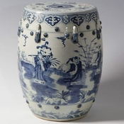 Blue & White Ancients Garden Stool
