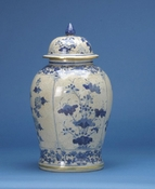 Blue & White Porcelain Urn