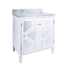 Circles Bath Vanity Lacquer Finish