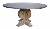Curly Zinc Top Dining Table