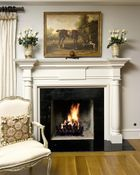 Custom Elegant Painted Mantel