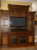 Custom Pine Two Tone TV Cabinet