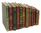 Leather Bound Books - set of 12
