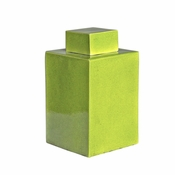 Lime Green Square Tea Jar