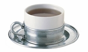 Match Pewter Cappuccino Cup & Saucer