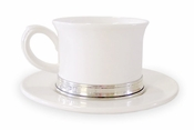 Match Pewter Tea Cup & Saucer