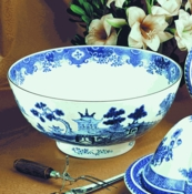Mottahedeh Blue Canton Punch Bowl