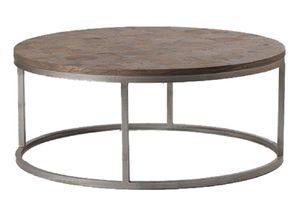 Round Parquet Coffee Table