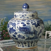 Porcelain Fish Ginger Jar