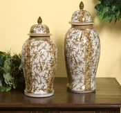 Bamboo Porcelain Urn - Medium
